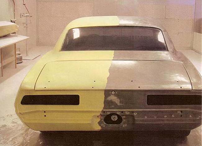 Снятие старой краски с автомобиля видео